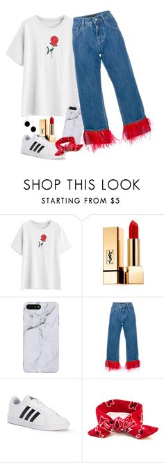 """Untitled #1128"" by alwateenalr on Polyvore featuring Yves Saint Laurent, Dolce&Gabbana, adidas and tuleste market"