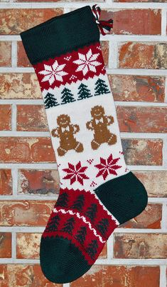 Personalized Knit Christmas Stocking- U. Wool - Handmade -Christmas Angels - Made in U. Knitted Christmas Stocking Patterns, Knitted Christmas Stockings, Christmas Knitting, Crochet Christmas, Santa Stocking, Knit Stockings, Vintage Stockings, Personalized Stockings, Christmas Angels