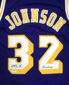 6b70d58860a Magic Johnson Autographed Purple LA Lakers Jersey Showtime PSA DNA ITP .   229.00. This