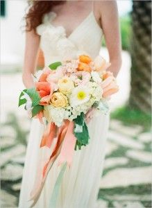 Coral bouquet, peach bouquet