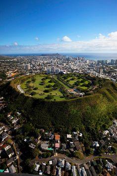 #Punchbowl, National Memorial Cemetery of the Pacific, Honolulu, Oahu, Hawaii.
