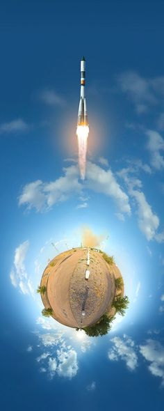 Fantastic Little Planet Panoramas of Rocket Launches at Baikonur Cosmodrome 360 Degree Photography, A Level Photography, Photography Workshops, Photography Projects, Abstract Photography, Planet Project, Doodle Wall, Fly Around The World, Little Planet