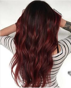 Mane Addicts Need Red Hair Inspo? Try Mulled Wine Hair – a Deep Burgundy Hair Color Mane Addicts Nee Deep Burgundy Hair Color, Red Balayage Hair Burgundy, Red Hair Inspo, Red Hair Tips, Red Hair Inspiration, Wine Hair, Brown Ombre Hair, Dark Red Brown Hair, Hair Shades