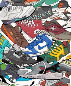 """Always Laced"" Sneaker Poster by Mekhi Baldwin, via mekhibaldwin.com"