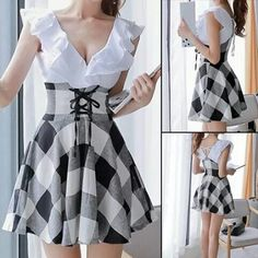 Gingham corseted skirt. For those days you need to be preppy, hipster, country, and goth