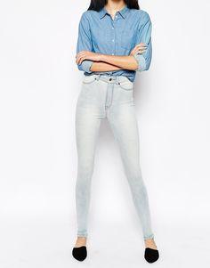 b18a7cb26ab32 Dr Denim - Solitaire - Jean taille haute ultra skinny chez ASOS shoping  tenuedujour lookdujour mode