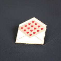 Image of Enamel Love Letter Pin