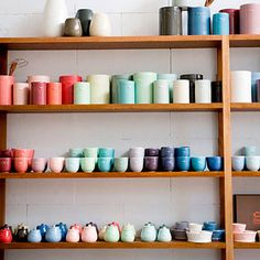 Pottery Display (Bison Pottery via Roseland Greene blog)