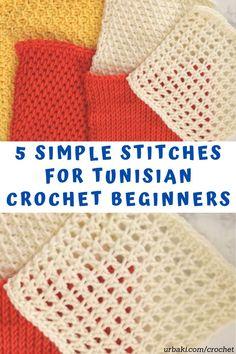 Crochet Video, Easy Crochet, Knit Crochet, Crochet Shrugs, Crochet Geek, Tunisian Crochet Patterns, Crochet Stitches For Beginners, Knit Stitches, Crochet Tutorials
