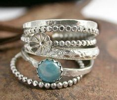 Stacking Silver Rings~♡