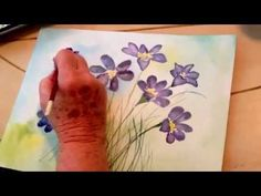 Tutorial - How to paint May Flowers in watercolour - Lesson 5 of 5 - Jacqueline Burke - YouTube