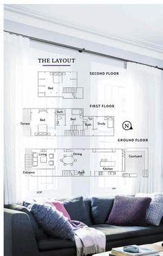 from Australian house & garden april 2016 Australian Homes, Second Floor, Ground Floor, Terrace, Entrance, Floor Plans, Home And Garden, Layout, Flooring