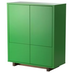 IKEA - STOCKHOLM, Cabinet with 2 drawers, green, , You can store everything from plates to binders in the cabinet. The deep shelves and the two large drawers give you plenty of storage space.The push openers give the cabinet a clean look because you do not need any handles or knobs.You can easily change the height according to your storage needs as the shelves are adjustable.The cabinet stays firmly in place on uneven floors because it has adjustable feet.