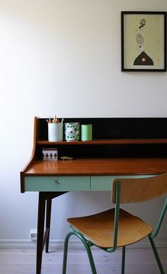 gds skrivbord måla pastell