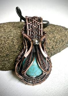 Copper Wirework Pendant