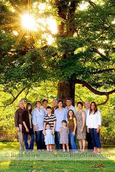 Simple large family pose. Apparently this is VERY difficult to accomplish...