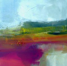 Pays de Caux par Marianne Quinzin. Acrylique, pigments et enduits sur toile, 50cm x 50cm