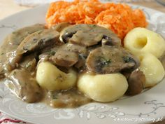 Polish Recipes, Polish Food, Sea Bass, Aga, Gravy, Risotto, Potato Salad, Stuffed Mushrooms, Vegetarian