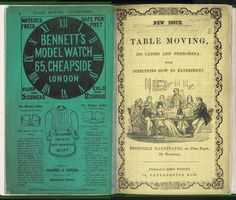 Pamphlet about table-moving, a Spiritualist craze from the Victorian period. Estimated 1853. Free from known copyright restrictions. #BLGothic #DiscoverLiterature