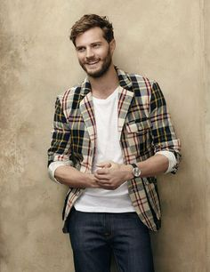 """I don't give any cares for """"Fifty Shades of Grey"""", however, I will take Jamie Dornan in The Fall any day. So what if he is a serial killer? Jamie Dornan, Outfit Man, Herren Outfit, Christian Grey, Fifty Shades Of Grey, Mode Vintage, Canada Goose, Beautiful Men, Beautiful Celebrities"""