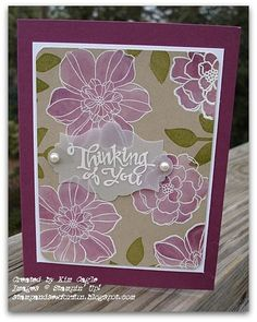 I love this technique!!    Secret Garden Stampin' Up! - Whitewash Technique with Rich Razzleberry