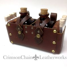 Apothecary Kit - Brown on Brown - by Crimson Chain leatherworks