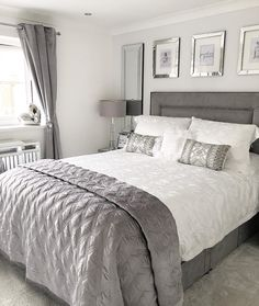 Bedroom goals 😍💕 Tag a friend for inspiration! Decor, Home Renovation, White Interior, Bedroom Goals, Bedroom Decor, Luxury Bedding, Interior Design, Inspire Me Home Decor, Bedroom