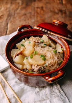 It's probably no secret if you follow this blog that I'm really, really excited about our Homemade Chinese Salted Pork recipe, which we posted last week. So if you decide to make a batch of salted pork, here's a follow-up recipe for how to use it: Braised Daikon with Salted Pork and Glass Noodles.  …