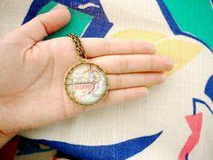 map pendant, so pretty.