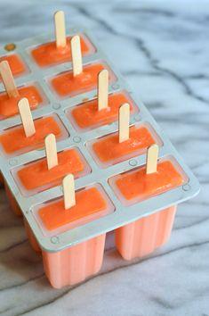 orange carrot ice pops | Brooklyn Homemaker Orange Ice Cream, Ice Pops, Homemaking, Whole Food Recipes, Carrots, Healthy Living, Baking, Brooklyn, Create