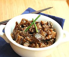 Sesame Garlic Eggplant (Low Carb and Gluten-Free)