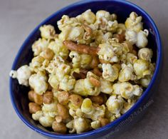 Spicy sriracha lime popcorn, peanut and pretzel crunch mix!