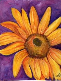 Sunflower Watercolor Paintings | Sunflower Painting Watercolor OriginalHome by SharonFosterArt
