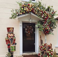 Incredible celebrity Christmas doors: Robbie Williams, Kimberley Walsh, Rochelle Humes and Christmas Wreaths For Windows, Front Door Christmas Decorations, Christmas Front Doors, Holiday Decor, Rustic Christmas, Christmas 2019, Christmas Holidays, Merry Christmas, Xmas