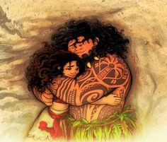 Maui x Moana - Hug by Skydrathik.deviantart.com on @DeviantArt