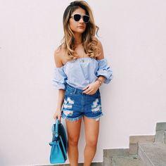 blusa-ombro-a-ombro-com-shorts-como-usar-tendencia-blogueira-look
