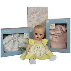 Vintage Ginnette Dolls, Huge Lot with 2 Ginnette Dolls, boxes & original clothes Antique Dolls, Vintage Dolls, Blue Socks, Vintage Vogue, Miniature Dolls, Little Sisters, Baby Dolls, Doll Clothes, Childhood