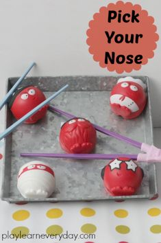 Ten fun and easy to set up games for kids to play to help raise money on Red Nose Day for Comic Relief. Egg And Spoon Race, Nose Picking, Using Chopsticks, Really Fun Games, Rainbow Rice, Tuff Tray, We Make Up, Red Nose Day, Red Paper