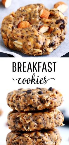 EASY No-Bake Breakfast Cookies mins prep!) – I Heart Naptime EASY No-Bake Breakfast Cookies mins prep!) – I Heart Naptime,BAKING These No-Bake Breakfast Cookies are easy to make, healthy, packed with protein. Breakfast Bake, Free Breakfast, Breakfast Ideas, Breakfast Casserole, Healthy Breakfast Cookies, Baked Breakfast Recipes, Healthy To Go Breakfast, Breakfast Cookie Recipe, Breakfast Biscuits