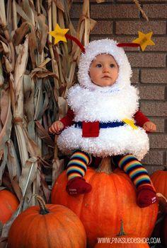 Rainbow brite sprite baby costume.   Tutorial here: http://pinksuedeshoe.com/?s=Rainbow+brite+costume&submit=Search