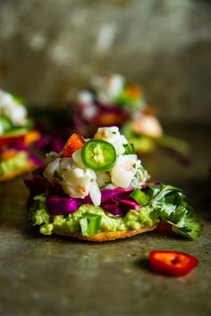 Shrimp Ceviche Tostadas - I can't HANDLE the gorgeousness!