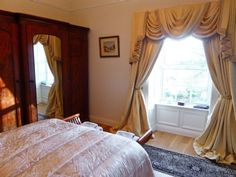 Cassetown House (ref in Thurles, County Tipperary Double Room, Cottage, Curtains, Country, Bedroom, Yellow, Garden, House, Home Decor