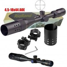 RioRand 4.5-18x44 Sf Long Range Scope, Black Mil-dot Rectile, High Shock Proof,red/green Dual Color