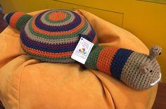Questo cuscino -lumaca sarà un buon compagno per il vostro bambino.Da Blitz Argenta. Ci trovi su facebook.