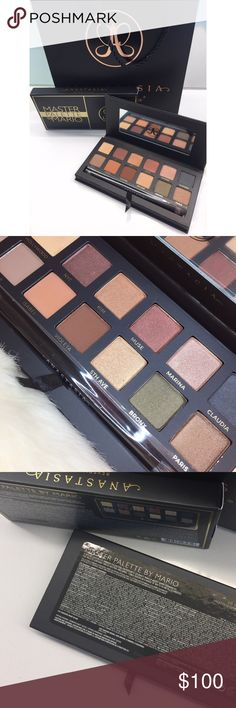 Master Palette by Mario Anastasia BH Perfect addition to your friend's or your closet!Brand new. Reposted for more exposure. Please see my other listing for reference!Comes with ABH paper bag and box. I have one myself and this has been my go-to shadow palette! The color pay-off is amazing! Doesn't crease and the shimmer sticks to the skin. This one has never been used, so it is in 100% perfect condition! It's sold out everywhere.I don't trade, send me your REASONABLE offer,mine prolly equal…