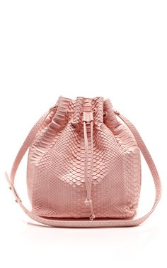 Pastel Pink Python Large Drawstring Bag by Hunting Season for Preorder on Moda Operandi