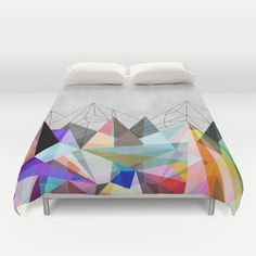 Buy ultra soft microfiber Duvet Covers featuring Colorflash 3 by Mareike Böhmer Graphics. Hand sewn and meticulously crafted, these lightweight Duvet Cover vividly feature your favorite designs with a soft white reverse side. Unique Duvet Covers, Luxury Duvet Covers, Luxury Bedding, Twin Xl Bedding, Linen Bedding, Bedding Sets, Bed Linens, Pottery Barn, Ikea