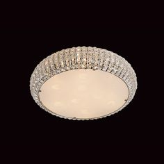 Rome 6 Lt Crystal Semi Flush Ceiling Light from Lights 4 Living Ceiling Light Design, Semi Flush Ceiling Lights, Crystal Wall, Wall Brackets, Sloped Ceiling, Hanging Lights, Polished Chrome, Bulb, Crystals