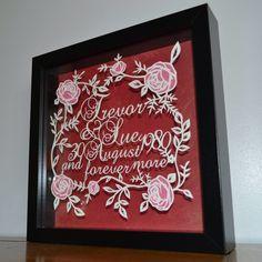 Anniversary gift papercut