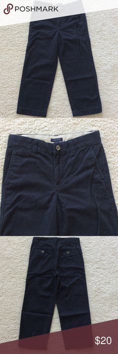 👫Tommy Hilfiger navy chinos Tommy Hilfiger navy chinos. Front zip and snap closure. Adjustable waistband. Pockets. 100% cotton. Size 5. Excellent condition. Not sure if these were ever worn! Tommy Hilfiger Bottoms Casual